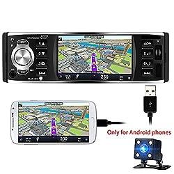 Polarlander Autoradio 4 Zoll Hd Stereo Bluetooth Mp5 Player Bildschirm Spiegelung Für Android Phone 1 Din Usbsd Fm Mit Rückfahrkamera