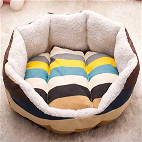 Wuwenw Nette Haustier Nest Pad Erfrischende Leinwand Sommer Hund Bett Hund Sofa Bett, Um Matte 45X40Cm Zu Senden