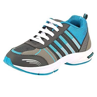 Chevit Men's Blue Canvas Synthetic Running Shoes-10 Uk