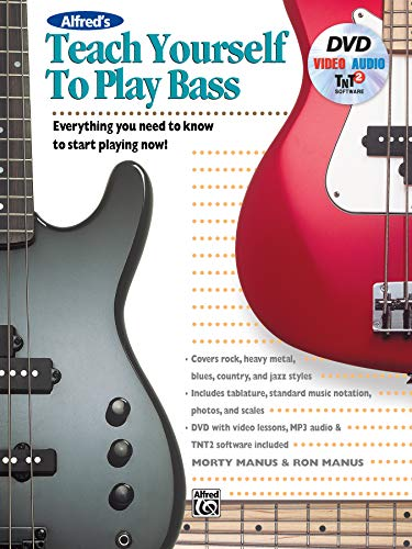 Alfred's Teach Yourself to Play Bass - Everything You Need to Know to Start Playing Now! (incl. DVD) - Gitarre Lernen Software