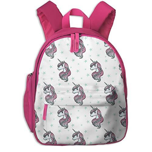 Kinderrucksack mädchen,Unicorn - White U0026 Teal - Large_6168 - m & e_Fashions, Für Kinderschulen Oxfordstoff (pink) (Nike Rucksack Teal)