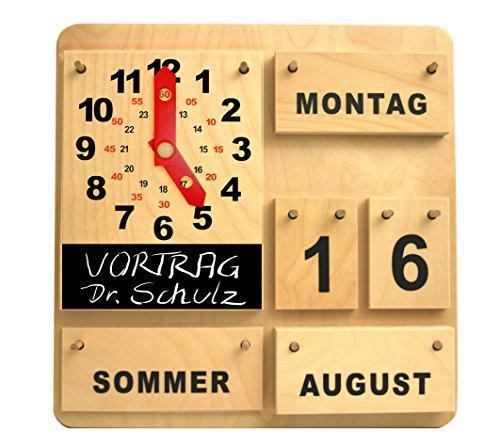 Kalender mit Aktionsuhr (deutsche Ausführung) Weitere Sprachen auf Anfrage