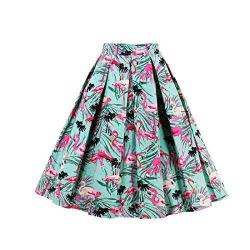 Eudolah Mujeres Vintage Vintage Swing Full Circle plisadas faldas DDH XL