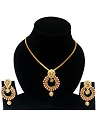 Star Jewellery Gold Colour Brass Necklace Set For Women ,Jewellery Set, Set,Jewellery,Nacklace Set,Women,Women...