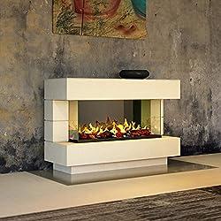 muenkel Design Londres [Chimenea eléctrica opti-myst]: 140 cm - albugíneo (Cálido) - CON CALEFACCIÓN, con Madera Decoración ( OMC 1000)