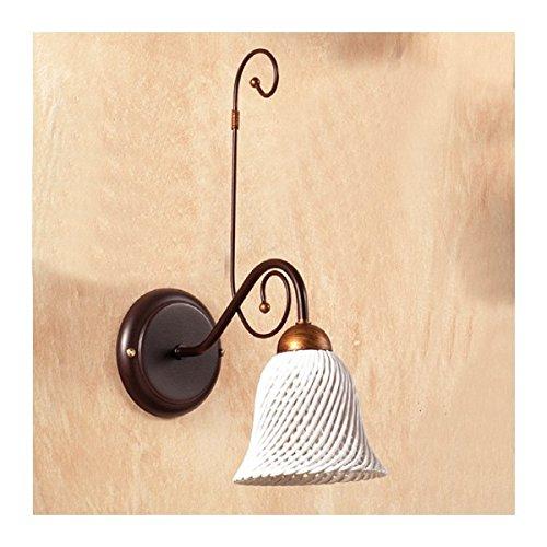 Applique Wandleuchte mit Diffusor aus Keramik mit Glocke a Spaghetti Retro Country–Ø 14cm (Glocken Applique)