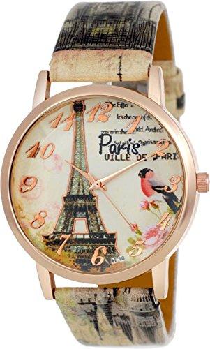 Rage Enterprise attractive Eiffel Tower design Multicolour stylish bracelet leather belt analog Watch - For Girls