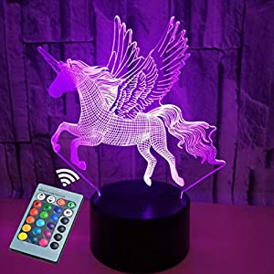 Luz nocturna infantil Unicornio, iluminación