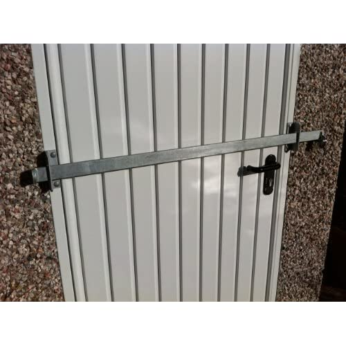 GARDEN SHED SECURITY BAR 1000MM GALVANISED FULL KIT