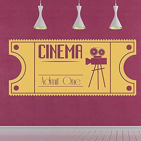 Jahrgang Kino Wandaufkleber Film Film Wandtattoo Schlafzimmer Wohnzimmer Wohnkultur verfügbar in 5 Größen und 25 Farben Groß Blatt Grün