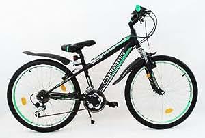 24 zoll mtb mountainbike federgabel jugendfahrrad jungen. Black Bedroom Furniture Sets. Home Design Ideas