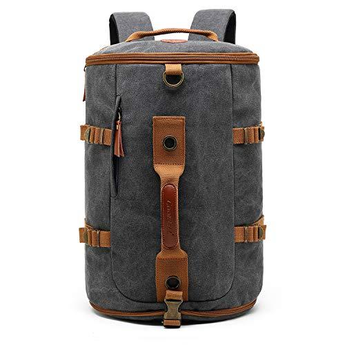 CoolBell umwandelbar Sport Rucksack Tasche Herren Umhängetasche Messenger Bag Business Aktentasche leicht Schultertasche Travel Backpack Reisen Tasche Passend 17,3 Zoll Laptop(Canvas Grau)