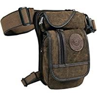 Drop Leg Bag Fanny Waist Packs for Motorcycle Steampunk Costume Outdoor Tatical Brown