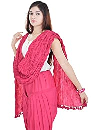 Priyali's Collection Cotton Purple & Pink Color Dupatta