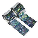 Idealeben 2-Pack Reflektorband zur Vogelabwehr Schreckband, Vogelabwehr-Verteidiger Laserbänder, fernhalten von Tauben, Möwen und Tieren 200m