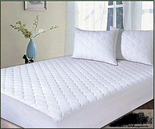 Coprimaterasso trapuntato in misto cotone, di ottima qualità,  antiallergico, per materasso alto 33 cm, letto matrimoniale grande (150 cm  x 200 cm)