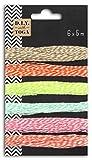 Toga RU135 6 ficelles Bicolores, Baker's Twine, Pastel, 500 x 0,1 x 0,1 cm