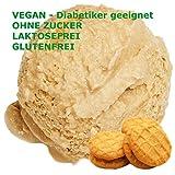 Butterkeks Cookie Geschmack Eispulver VEGAN - OHNE ZUCKER - LAKTOSEFREI - GLUTENFREI - FETTARM, auch für Diabetiker Milcheis Softeispulver Speiseeispulver Gino Gelati (Butterkeks Cookie, 333 g)