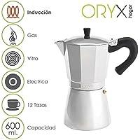 Oryx 5056024 - Cafetera Inducción Aluminio 12 Tazas 600 ML