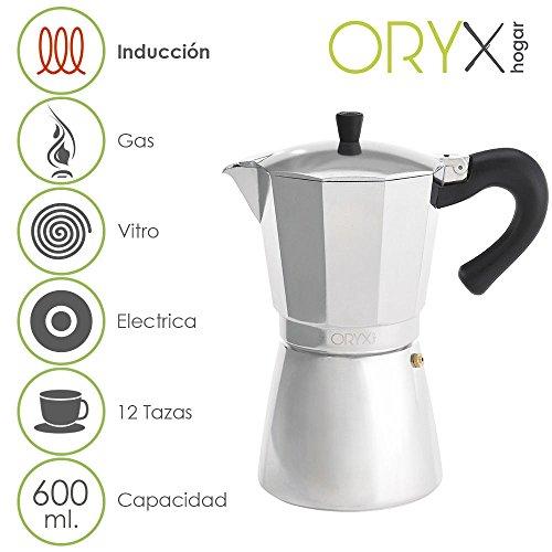 Oryx 5056024 Cafetera Inducción Aluminio 12 Tazas (600 ML