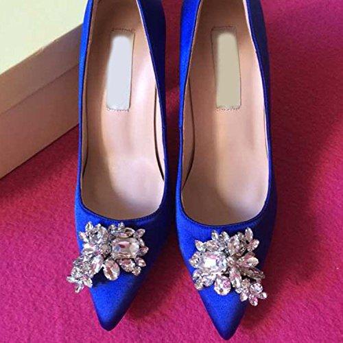WSS chaussures à talon haut Chaussures à talons pointus en cuir Satin soie strass asakuchi chaussures chaussures femme 2