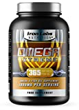 Omega Xtreme - Fish Oil Omega 3 - 1000mg x 365 Softgels | 1 Year Supply | Omega 3 Fish Oil, Highest Quality manufactured in the UK | 365 Softtgel Capsules from Iron Labs Nutrition