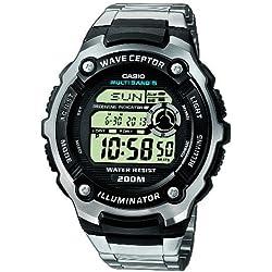 Casio Wave Ceptor Reloj Digital para Hombre con Correa de Acero Inoxidable – WV-200DE-1AVER