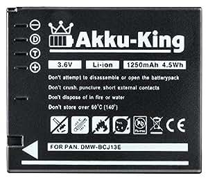 Akku-King Batterie compatible Panasonic Lumix DMW-BCM13, LX5, LX5K, LX5W, DMC-LX7, Leica D-LUX 5, D-Lux 6 - Avec Infochip - Li-Ion 1250 mAh