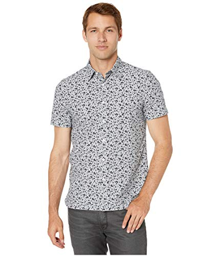 Floral Print Hemd (Perry Ellis Herren Abstract Floral Print Shirt  Hemd, Eclipse-4emw7072, X-Groß)