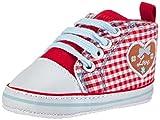 Playshoes Turnschuhe Sneaker Herzchen Love 121541, Baby Mädchen Krabbelschuhe, Rot (Rot 8), 19 EU