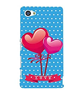PrintVisa Designer Back Case Cover for Sony Xperia Z5 Compact :: Sony Xperia Z5 Mini (Dual Hearts Pic)