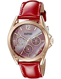 August Steiner AS8191RD - Reloj de cuarzo para mujeres, color rojo