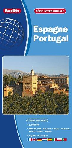 Espagne, Portugal - Carte Routière et Touristique par Berlitz