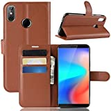 Cubot J3 Pro Case, Danallc Luxury PU Leather Wallet Flip Protective Bumper Case Cover With Card Slots And Stand For Cubot J3 Pro Brown