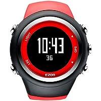 EZON T031 GPS Herren Sportuhr Outdoor Freizeit Laufen Digital Armbanduhren mit Kalorienzähler, Pace Erinnerung, Alarm und Stoppuhr