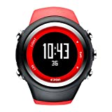 EZON T031A02 GPS Sportuhr für Männer und Frauen Outdoor Freizeit Laufen Digital Armbanduhren mit Kalorienzähler, Pace Erinnerung, Alarm und Stoppuhr