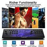 ZQYR GAME# 3D Machine de Jeu vidéo Arcade 2448 Jeux Classiques, 2 Joueurs Arcade Console de Jeux, 1280 * 720 Full HD, Bouton personnalisé, Supporte PS3, Output de HDMI et VGA, Model: AVG-030