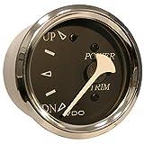 VDO Allentare Black Trim Gauge - For Use w/Mercury/Volvo/Yamaha 2001+ Engines - 12V - Chrome Bezel