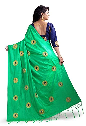 Latest-Fashion-Saree-Womens-Paper-Silk-Embroidered-Saree-with-blouse-piece
