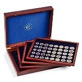 Leuchtturm 347179 VOLTERRA DE LUXE Münzkassette für 24 Euro-Kurs-Münzen-Sätze in Kapseln. Von 1 Cent bis 2 Euro | Inklusive 4 Einlagen