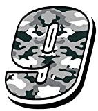 Startnummer Nummer Zahl Auto Moto Vinyl Aufkleber Sticker Motorrad Motocross Motorsport Racing Tuning Camouflage Grau (9), N 40