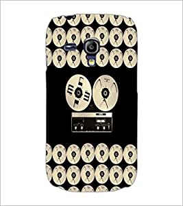 PrintDhaba Vintage Music D-5066 Back Case Cover for SAMSUNG GALAXY S3 MINI (Multi-Coloured)