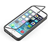 [ iPhone 4 y 4S Case ] - Funda JammyLizard De Silicona TPU Con Tapa Flip Cover Cover, NEGRO