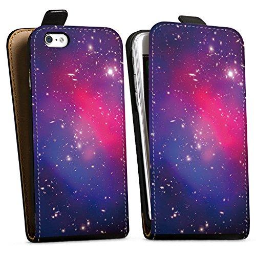 Apple iPhone X Silikon Hülle Case Schutzhülle Universum Galaxy Space Downflip Tasche schwarz