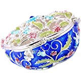 MagiDeal Enameled Flower Ring Jewelry Holder Storage Box Home Decorative Gifts Box