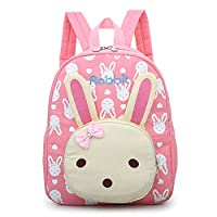 Uworth Rabbit Kid Backpack Kindergarten Girls for Back to School Pink