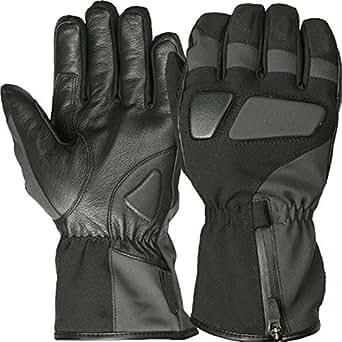 Juicy Trendz Heavy Duty Winter Textile Biker Motorcycle Motorbike Waterproof Gloves Black Medium