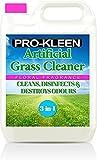 Detergente per prato artificiale 'Pro-Kleen',perfetto per case con cani,pulisce, disinfetta, deodora e profuma, flacone da 5 l super concentrato -