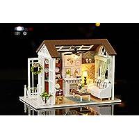 DIY Holz Puppenhaus Handwerk Miniatur Kit-Wohnzimmer Modell & Möbel zeigen Fotos & Englisch Unterricht