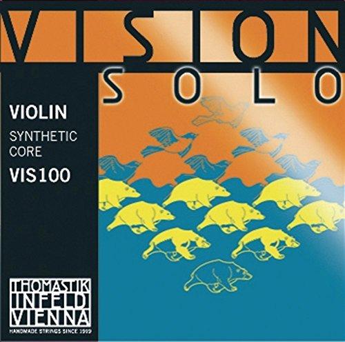 Thomastik Infeld Corde per Violino Vision Solo set 4/4 medium, Re rivestimento argento puro